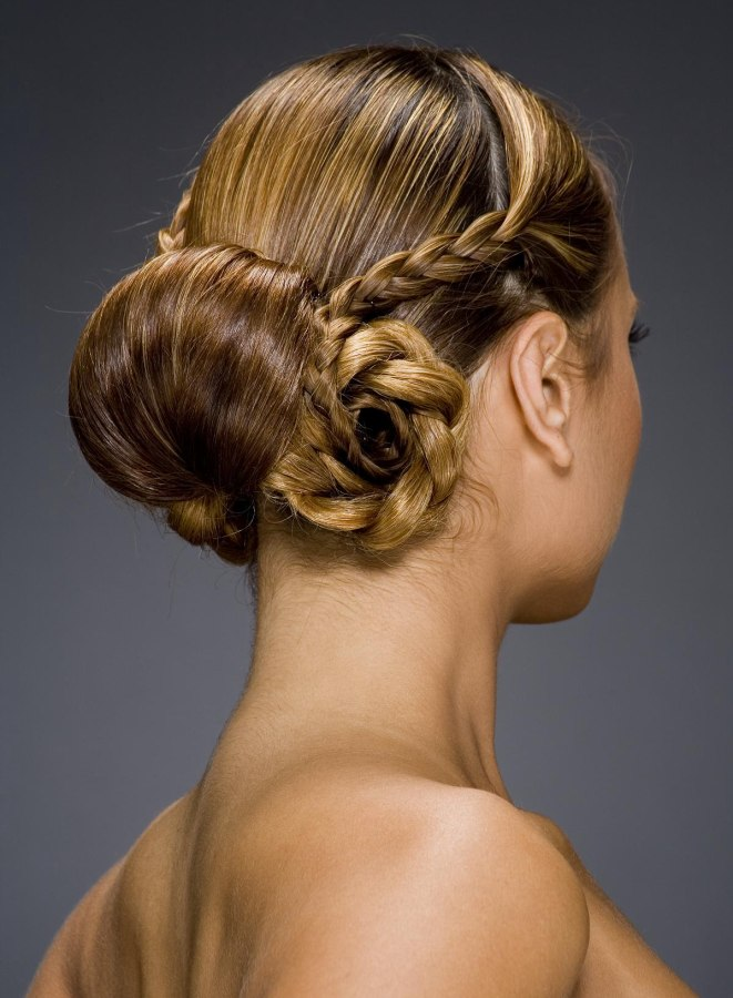Nape Gathered Knot With An Old World Chignon A Roll Up Bun