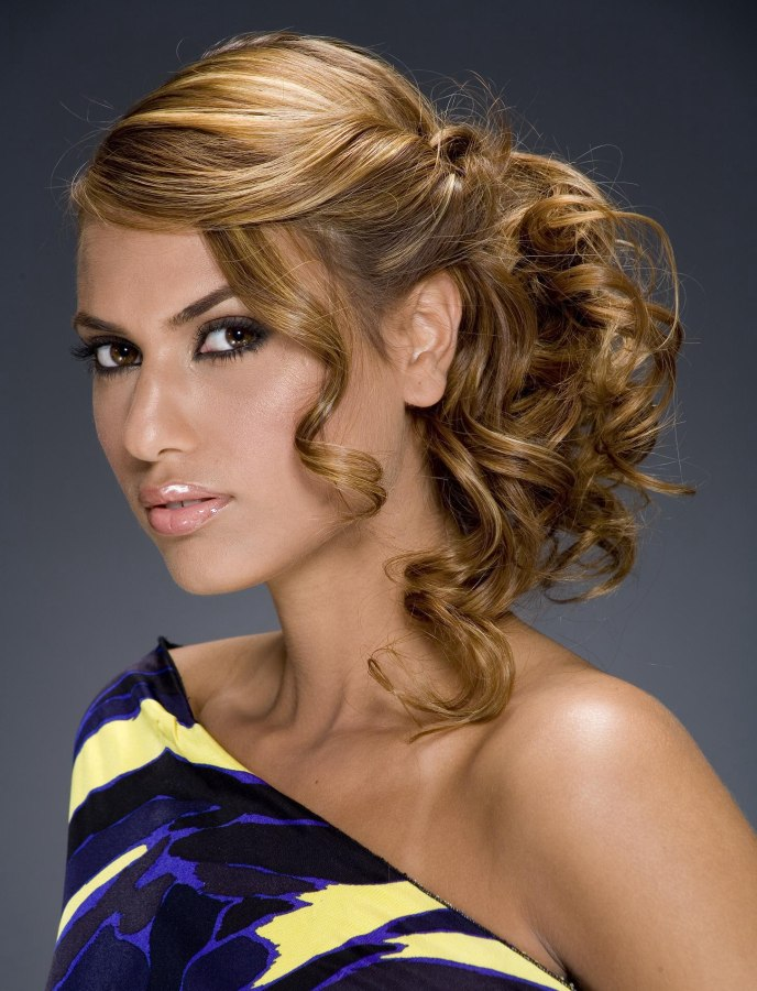 Side updos for prom with