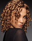African hair with spiral curls