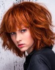 mid-length bob for red hair