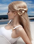 long hair with a rope braid