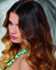 long hair with blended colors