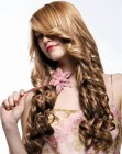hair extensions for romantic long hair