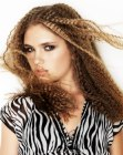 long hair with crimping