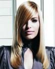 tapered blonde hair