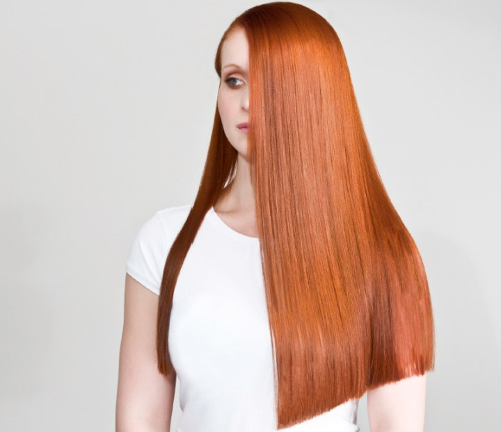Delightful One Length Long Hairstyle