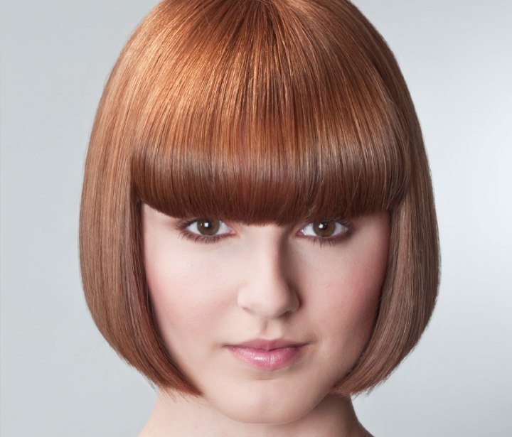 and always popular salonhairstyle. The one length box bob, cut ...