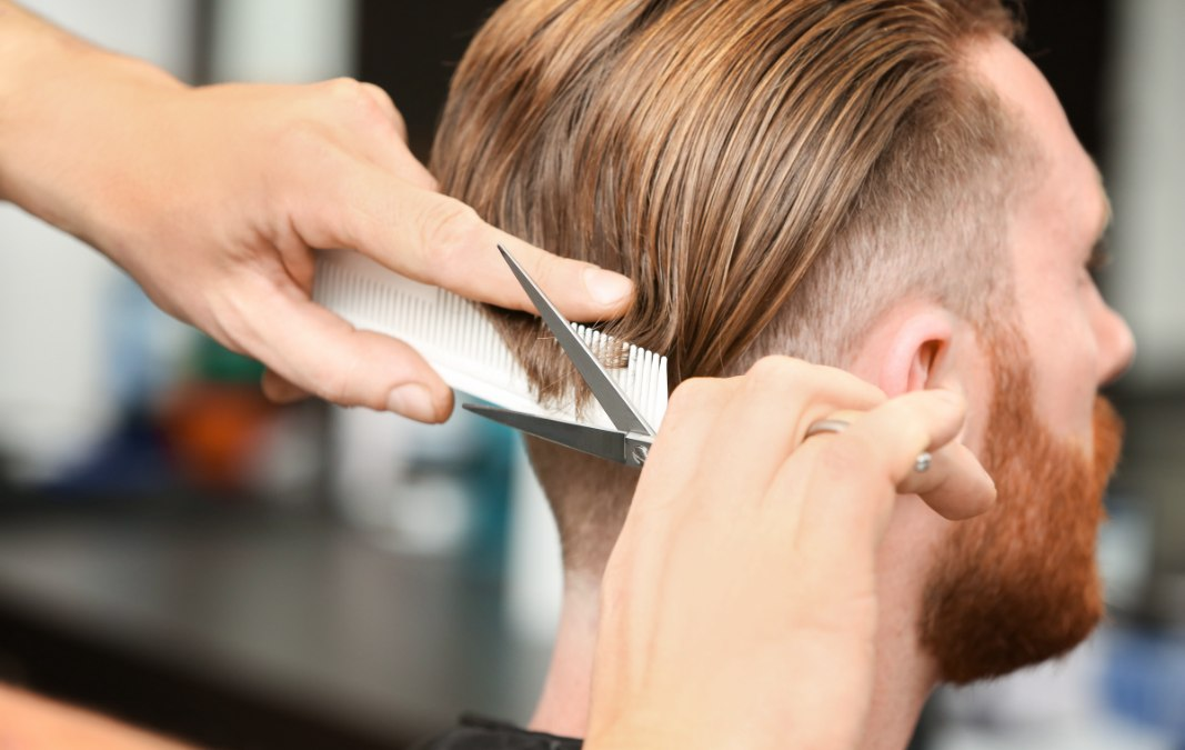 What scissor over comb, club cutting and free hand cutting are