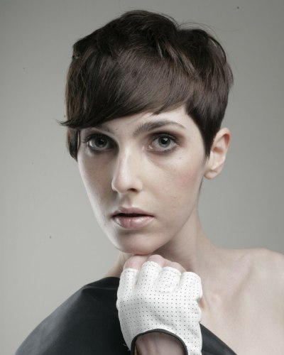 short tapered hair with layers in the neck shingled short