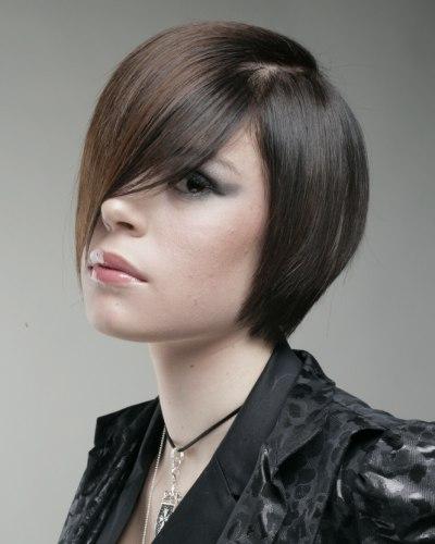 Праздничные прически на средние волосы с челкой