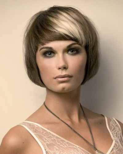 Short Face Framing And Bob Inspired Haircut With Two Tone