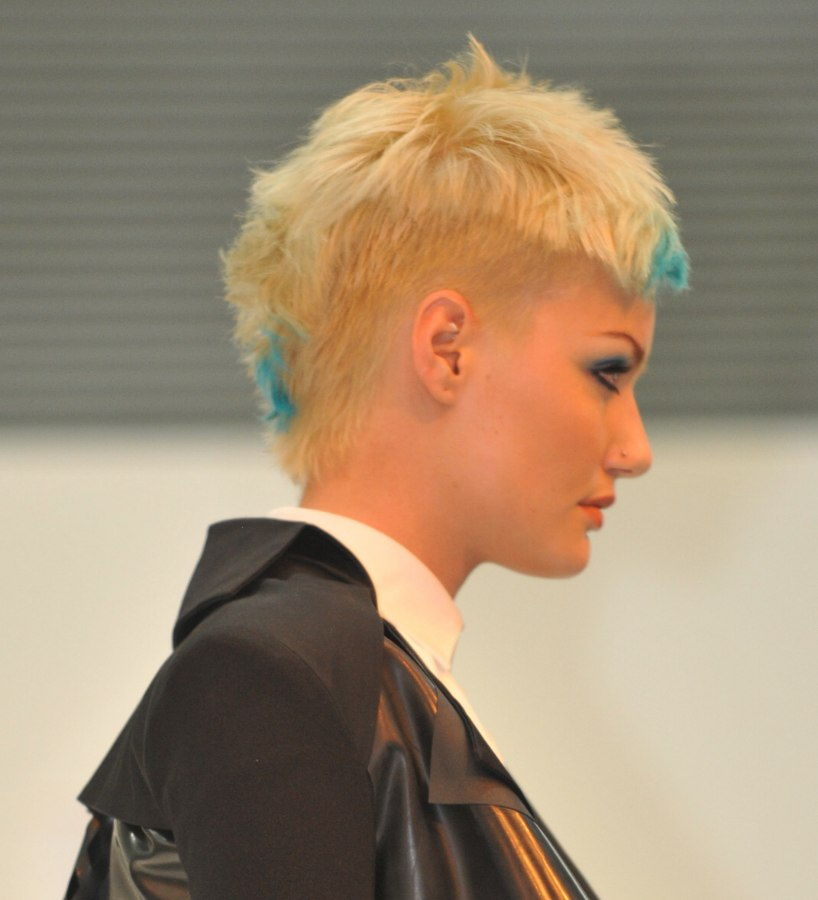 Modern Short Haircut Closely Cropped Along The Sides And