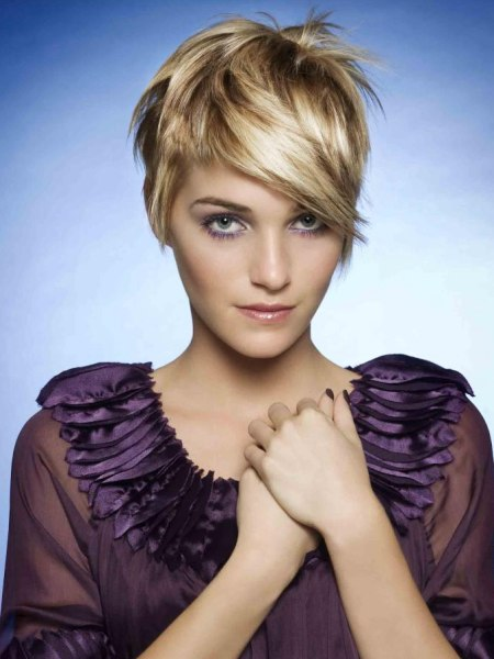 short cropped hairstyles. short feminine crop