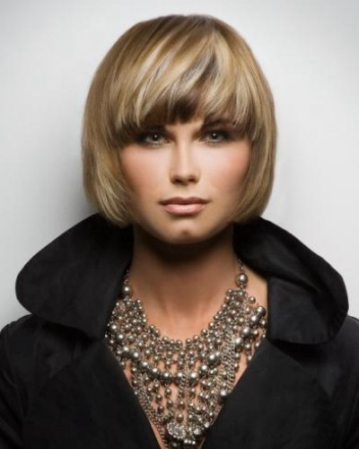 Thick Bob With Volume Achieved By Curving The Edges On The