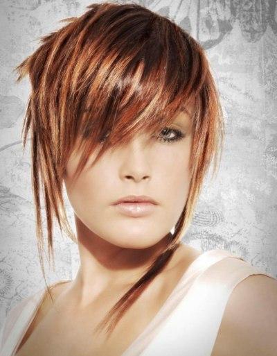 Long Hair Full Fringe. Side swept fringes are