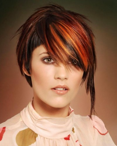 Finalist - Hairstyle with Red Highlights