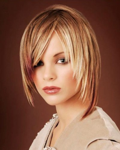Sexy Female With Blonde Asymmetrical Short Hair Styles Fashions Gallery  Pictures
