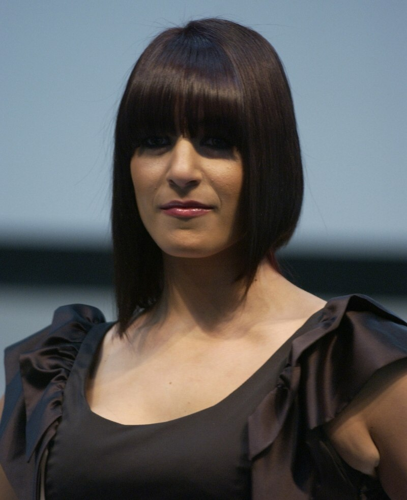 Modern A Line Bob With Different Lengths On The Left And