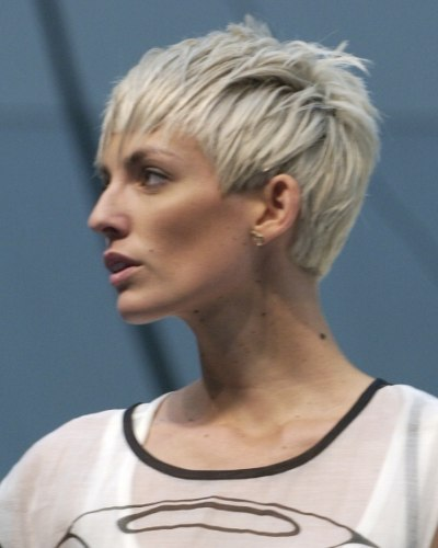 Silver Hair Cut Into A Youthful And Fresh Pixie Cut That