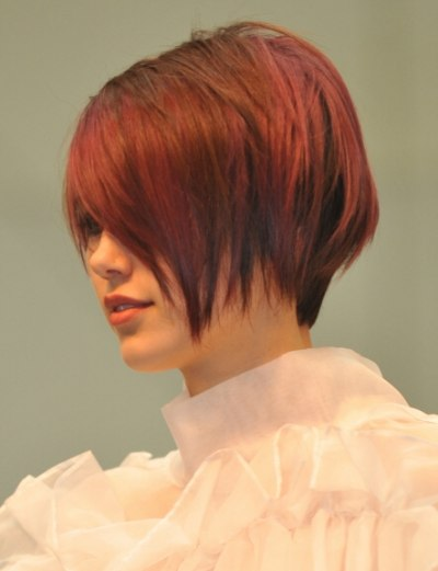 Creative Cutting Techniques For A Short Chopped Razorcut Style With Long Fringy Bangs