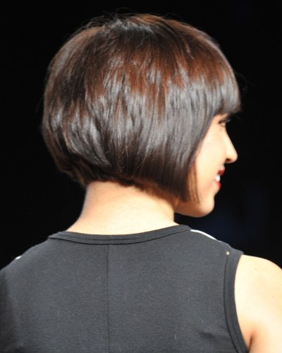 Very Long To Nape Buzzing Inverted Bob Cut Youtube ...
