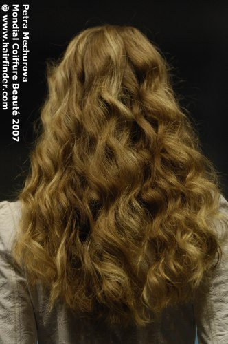 Back View Of Long Mid Back Hair With Large Waves