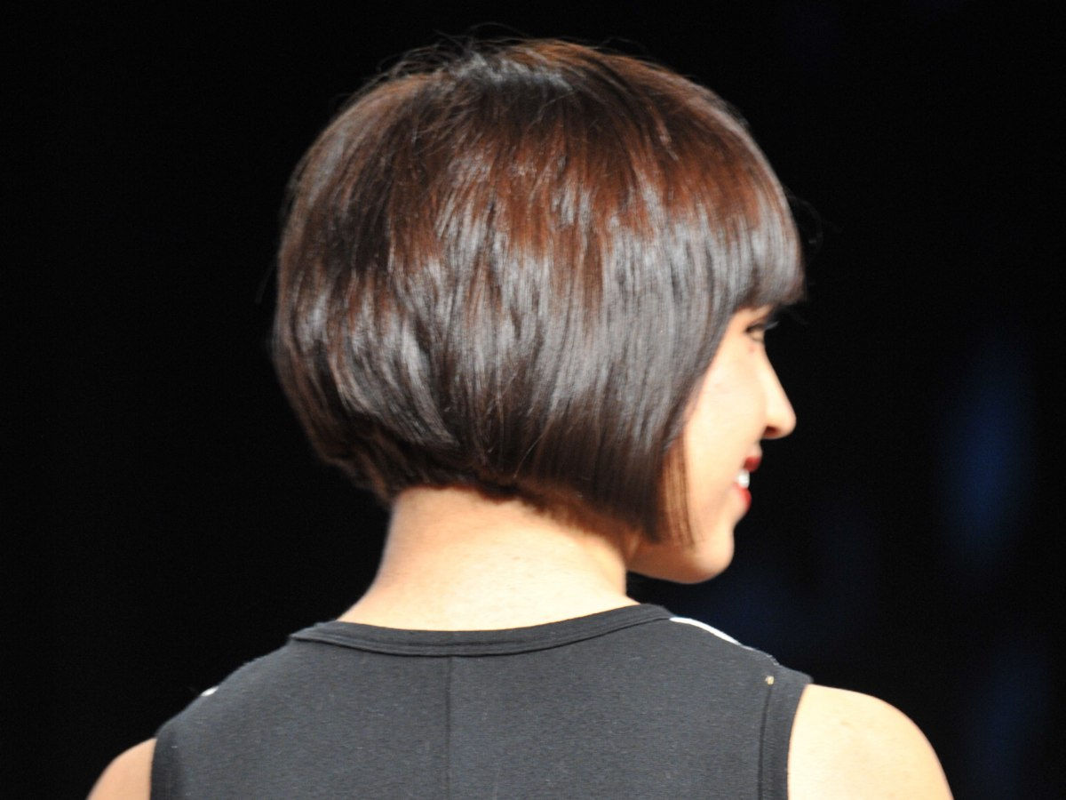 Bob Cut Short In The Nape And Sides That Shape In A Curve