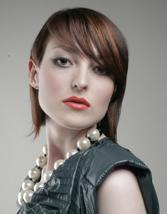 Medium Haircut To Show Off The Bone Structure Of A Strong