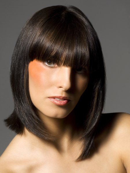 shoulderlength bob hairstyle