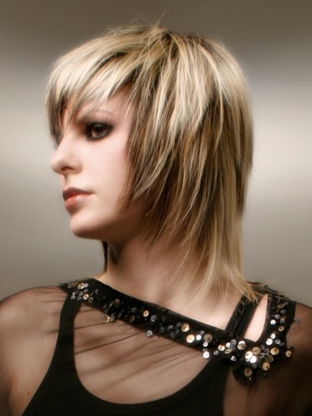 strongly textured haircut