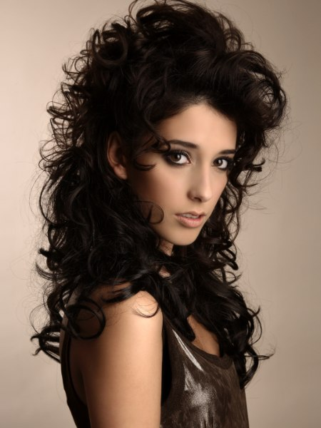long hair style with curls