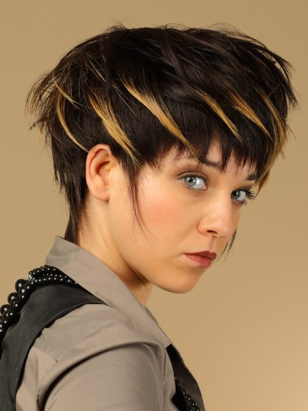 jagged look for hair