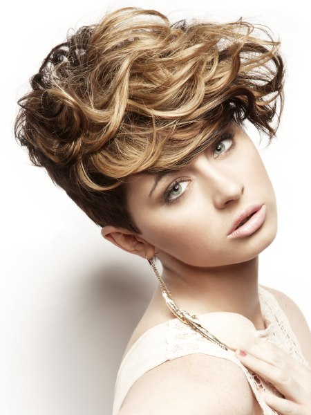 short haircut with short sides and neck and long top hair