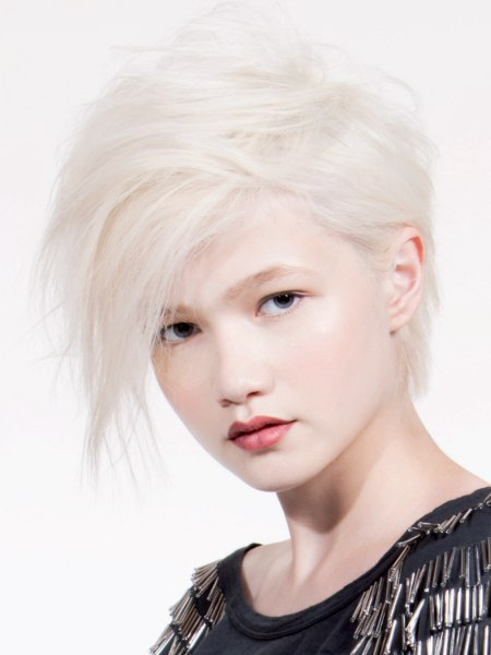 blonde versatile pixie with long top hair