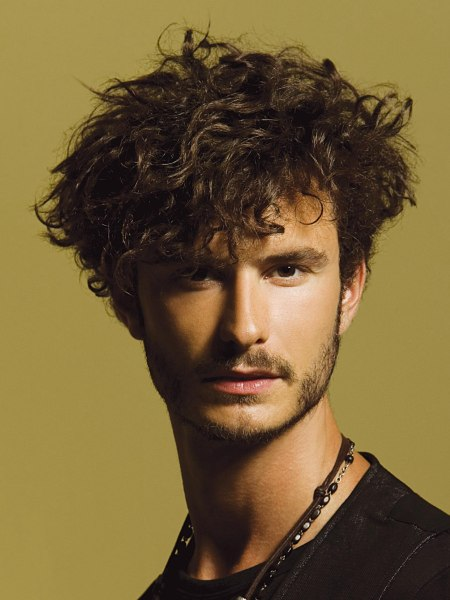 men's cut for very curly hair