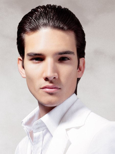 sleek men's look for hair