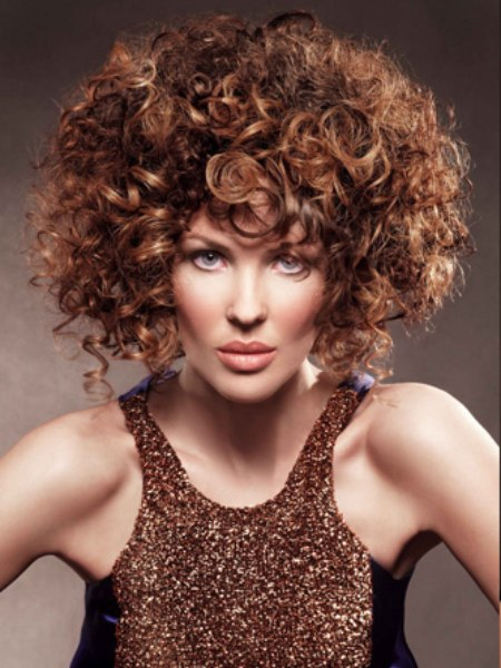 hairstyle with spiral curls