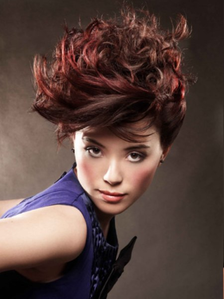 short hairstyle with contrast