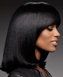 long bob for black hair