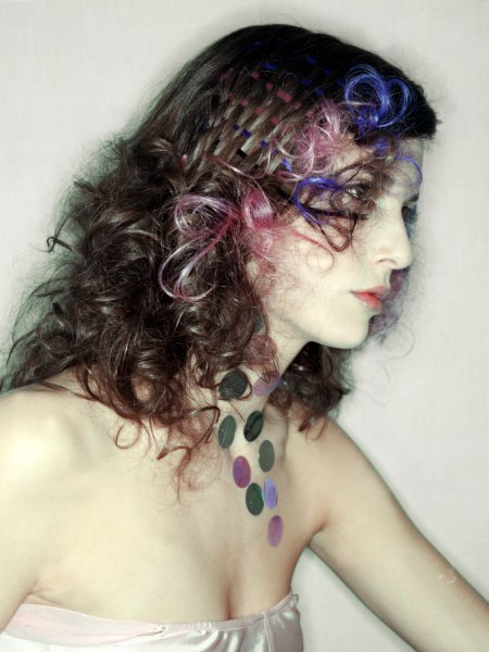 hair with strong colours image