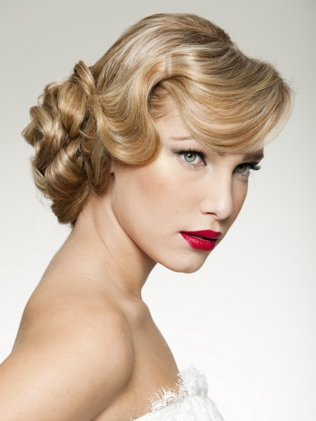 classic updo for a Rosemary Clooney hairstyle