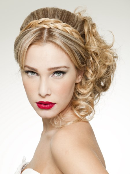 blonde updo for a princess look