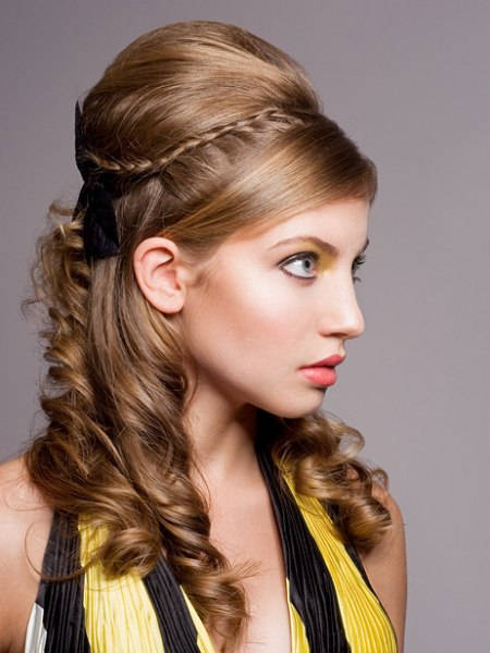Festive hair style wit Roman Empire inspiration