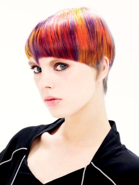 hair with vivid colours