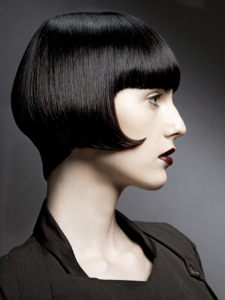 shiny black bob