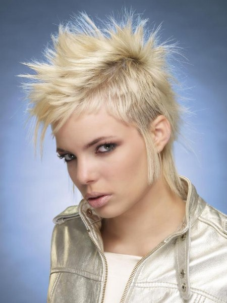 hairstyle with spikes