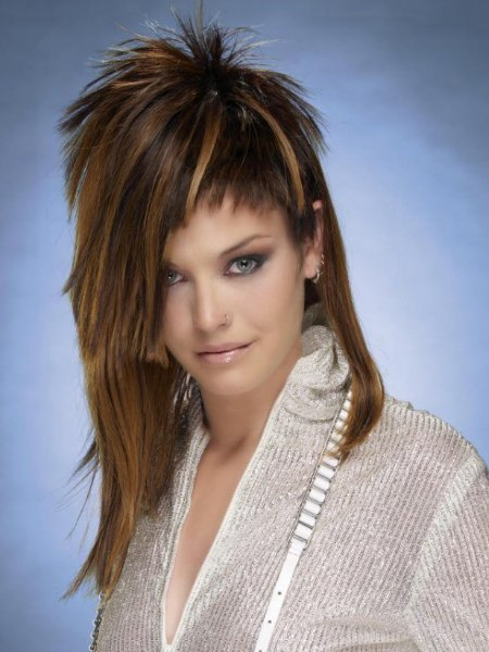 spiky short lengths hairstyle