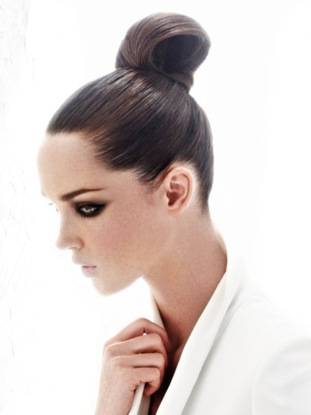 updo with a high knot