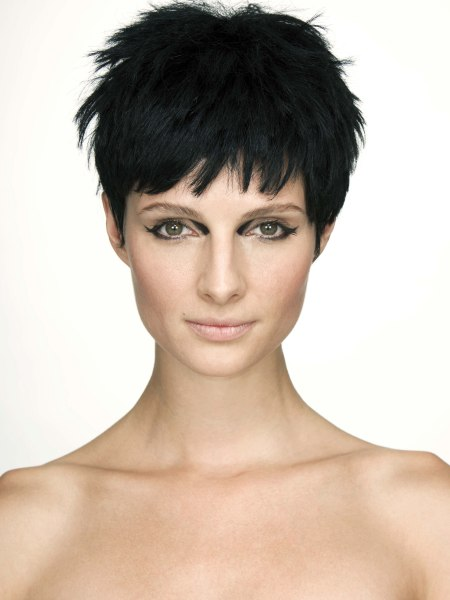 attractive pixie cut for black hair