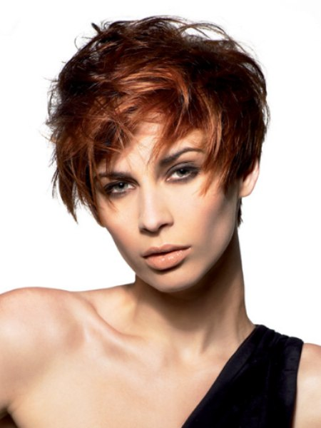 wild style for short hair